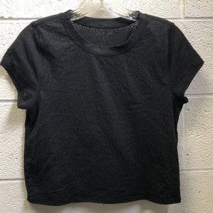 Lululemon black SS top, sz 6, 62761